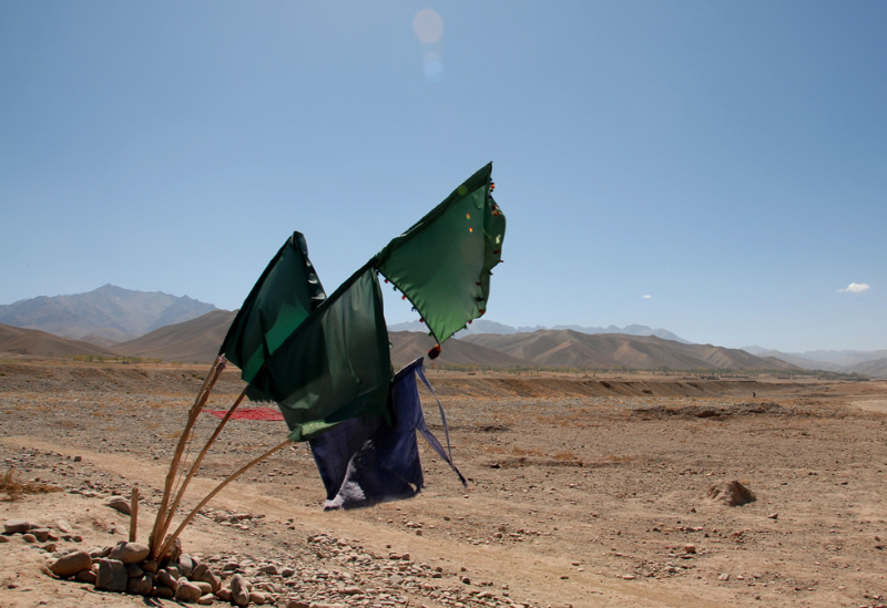 Mujahaddin Grave - Pic Helena Mulkerns