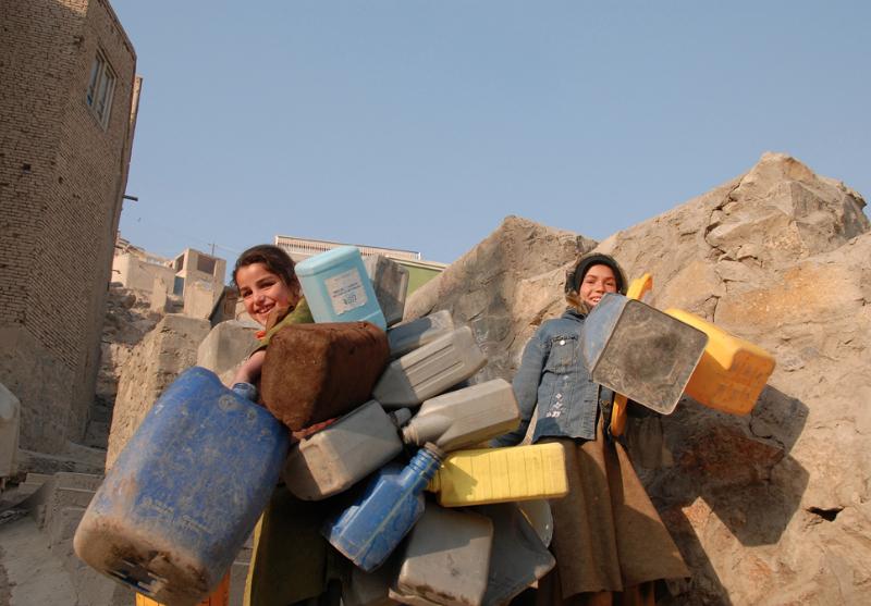 Waterbearers, Kabul - Pic Helena Mulkerns