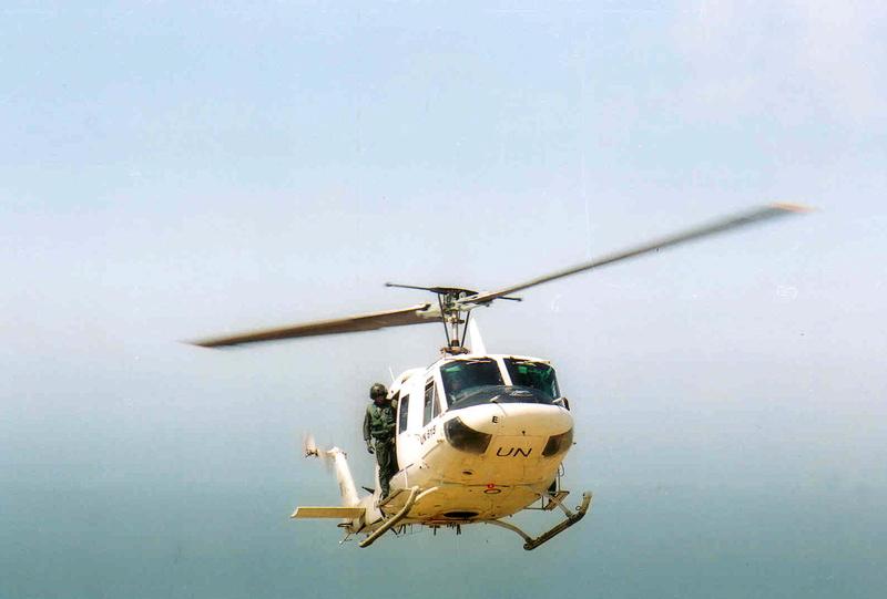 UN Chopper in blue sky