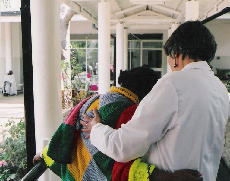 A Hug, at the Fistula Hospital in Addis Ababa