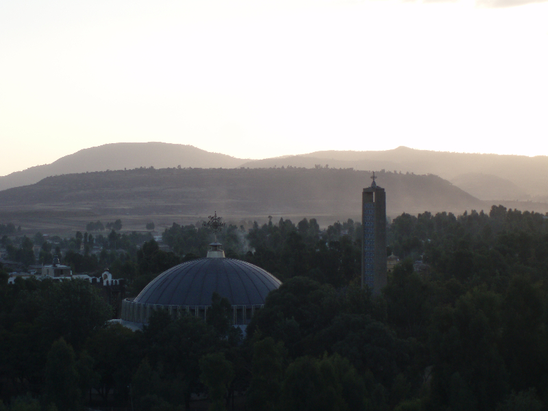 Axum, evening