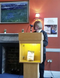 "Val Mulkerns reads from her new book, ""Memory and Desire""."